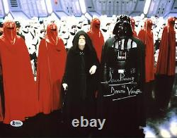 David Prowse Star Wars Darth Vader Authentic Signé 11x14 Photo Bas 2