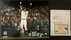 Derek Jeter Signé 16x20 Photo Yankees De New York Autographié Steiner Authentique
