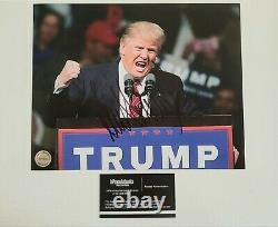 Donald Trump-signé À La Main, Autographié Photo 8x10 Avec Certificat D'authenticité
