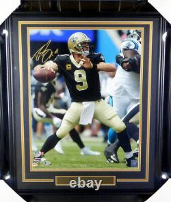 Drew Brees Authentic Autographed Signed Framed 16x20 Photo Saints Beckett 146652