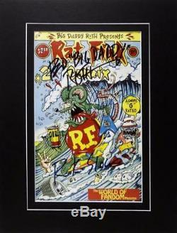 Ed Big Daddy Roth Photo Dédicacée Comic Authentique Autograph Rat Fink Custom Car