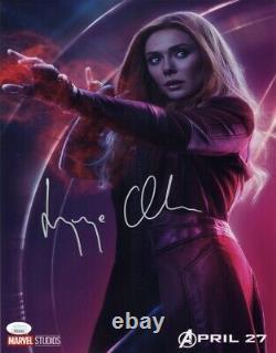 Elizabeth Olsen Authentic Hand-signed Avengers Infinity War 11x14 Photo Jsa Coa