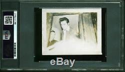 Elvis Presley Authentique Signé 2.75x3.5 Photo Dédicacée Psa / Adn Slabbed