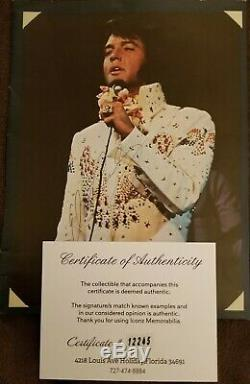 Elvis Presley Main Authentique Signé Autographié 8x10 Photo Magazine Withcoa