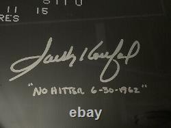 Encadré Sandy Koufax Signé 16x20 Photo Inscription Withno-hitter Mlb Uda Authentique