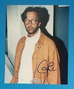 Eric Clapton Signe 8x10 Photo Couleur Avec Bas Certified Authentique Jsa Coa Psa