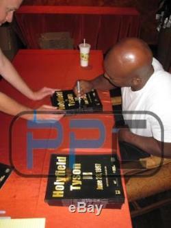 Evander Holyfield Et Mike Tyson Authentique Signé 1997 Lutte Programme Psa / Adn Pti