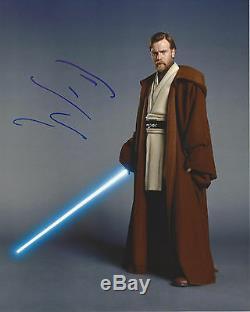 Ewan Macgregor Signe Authentique Star Wars Obi Wan Kenobi 8x10 Photo Acteur Withcoa