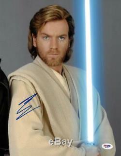 Ewan Mcgregor Signé Star Wars Authentique Autographié 11x14 Photo Psa / Dna # S37471