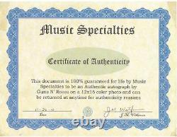 Guns N Roses Autographié Photo Signée À La Main 12x16 Aveccertificate Of Authenticity