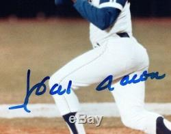 Hank Aaron Atlanta Braves Signés 8,5x11 Mlb Photo Glacé Jsa Assermentée