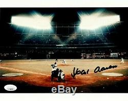 Hank Aaron Atlanta Braves Signés 8x10 715 Home Run Photo Jsa Assermentée