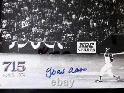 Hank Aaron Home Run # 715 Atl Braves Hof Signé Auto 16 X 20 Photo Jsa Authentic