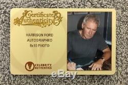 Harrison Ford Han Solo Signé Star Wars 8x10 Photo Celebrity Authentics Coa