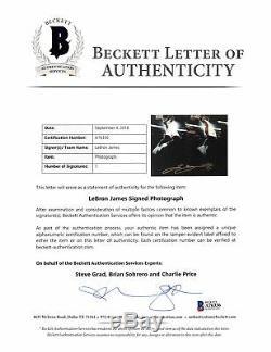 Heat Lebron James Authentique Signé Avec Cadre Photo 15x36 Le # 17/50 Bas # A76336