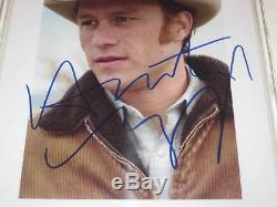Heath Ledger Signé Brokeback 8 X 10 Photo Beckett Assermentée & Encapsulé