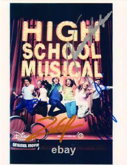 High School Musical Cast Signé Par 4 Original Avec Autograph Coa