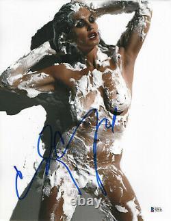 Hot Sexy Cindy Crawford Signé 11x14 Photo Authentic Autograph Bas Beckett Coa 5