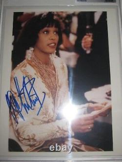 Houston Whitney Signé 8 X 10 Photo Beckett Assermentée & Encapsulé