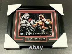 Iron Mike Tyson Authentic Signé Autographié 8x10 Action Photo Encadré Bas Coa