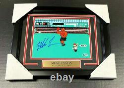 Iron Mike Tyson Authentique Signé Autographié 8x10 Photo Encadrée Punch-out Bas Coa
