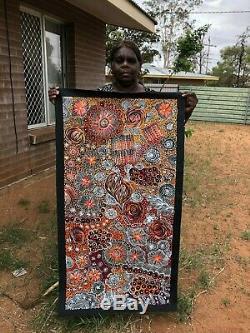 Janet Golder Kngwarreye, Authentique Art Collectable Autochtone, Incl Coa, Des Photos