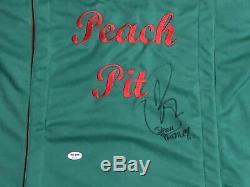 Jason Priestley Signé Authentique Peach 90 210 Pit T-shirt Autographié Psa / Dna # 2