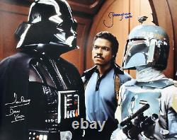 Jeremy Bulloch & David Prowse Star Wars Authentic Signé 16x20 Photo Bas