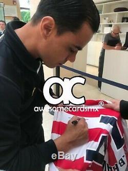 Jersey Chivas 2003 Signé Par Omar Bravo Photo Proof Certificat Authenticité