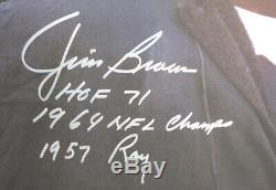 Jim Brown Autographié Authentique Signé 16x20 Photo Browns Avec Statistiques Psa 145344