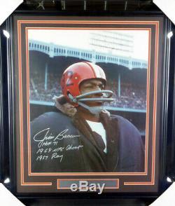 Jim Brown Autographié Authentique Signé Avec Cadre Photo 16x20 Browns Psa / Adn 146661