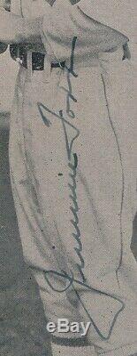 Jimmie Foxx Signé Photo Autograph Auto Psa / Adn Certifié Authentique