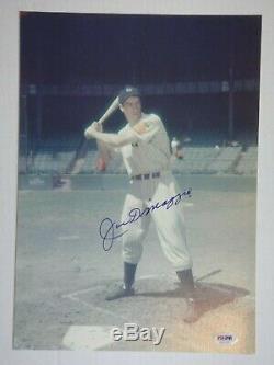 Joe Dimaggio Yankees Autographié Signé 11x14 Photo Psa / Adn Certifié Authentique