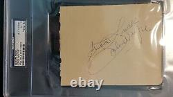 John Wayne Vintage Autographe Cut Avec Psa / Adn Lettre D'authenticité