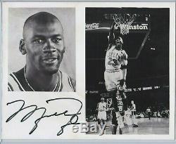 Jsa Authentique Signé Michael Jordan Auto 8x10 Photo Photographie Chicago Bulls Loa