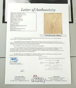Judy Garland Signée Et Encadrée Autograph Cut Avec Photo 8x10 Jsa Loa