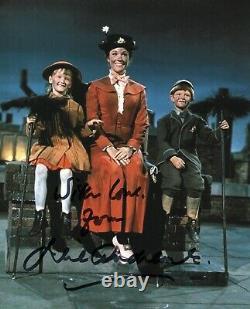 Julie Andrews Mary Poppins Autograph Signé Photo Walt Disney Cinema Authentique