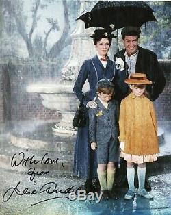 Julie Andrews Mary Poppins Autographe Photo Cinéma Walt Disney Authentique