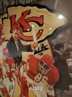 Kansas City Chiefs Authentic Signé Super Bowl Lithographie Affiche De Photo 1970 Rare