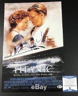 Kate Winslet Leonardo Dicaprio Titanic Signé 12x18 Photo Authentique Auto Beckett