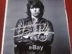 Keith Richards Des Rolling Stones Authentique Main Originale Signée 8x11 Photocoa