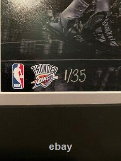 Kevin Durant 1/35 Panini Authentic Signé 16x20 Thunder Warriors Autograph Nets