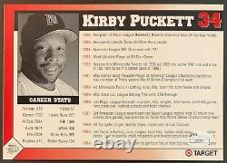 Kirby Puckett Signé Minnesota Twins 5x7 Photo Autographié Jsa Authentifié