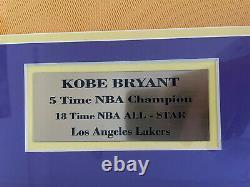Kobe Bryant Autographe Signé Uda Upper Deck Authentifié Jersey Auto Encadré