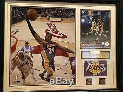 Kobe Bryant Framed Autographié Signé Photo 8x10 Jdm Authentics