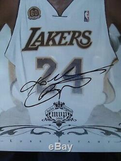 Kobe Bryant Mvp Dédicacé Lakers Collage Photo Encadrée Coa
