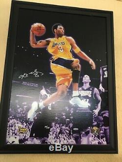 Kobe Bryant Signé 20x28 Canvas Upper Deck Uda Assermentée Limitée 100/108