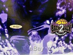 Kobe Bryant Signé 20x28 Canvas Upper Deck Uda Assermentée Limitée 2/108