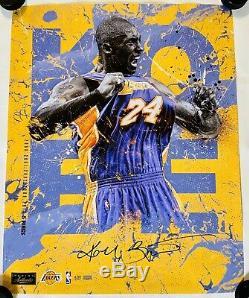 Kobe Bryant Signé 24x30 Photo Panini Assermentée Limited Edition 13/124