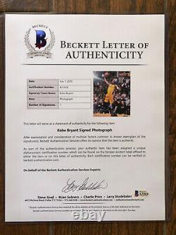 Kobe Bryant Signé 8x10 Photo Upper Deck Authentifié Uda Framed Lakers Beckett